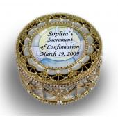Personalized Confirmation Rosary Box  #489-SC5-P