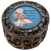 Personalized Communion Rosary Box 4892-HC8P