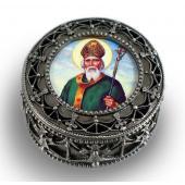 St. Patrick Rosary Box #4892-STP