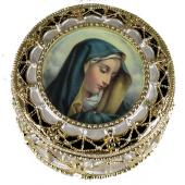 Our Lady of Sorrows Gold Rosary Box #489-QA