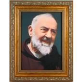 Saint Pio 5x7 Gold Frame #57GF-PP