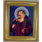 Saint Pio 5x7 Gold Frame #57GF-PP3