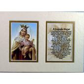 Mount Carmel 5x7 Mat with Prayer #57MAT-MTC