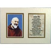 Padre Pio 5x7 Mat with Easel #57MAT-PP