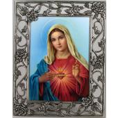 Immaculate Heart 5x7 Rose Pewter Frame #57PF-IHM5
