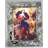 Our Lady Undoer of Knots 5x7 Pewter Frame #57PF-OLK
