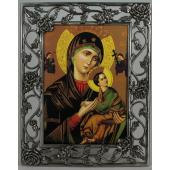 Perpetual Help 3x5 Rose Pewter Frame #23PF-PH