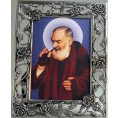 Padre Pio Pewter Frame #23PF-PP3