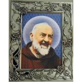 Padre Pio Pewter Frame #57PF-PP4