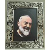 Padre Pio Pewter Frame #57PF-PP