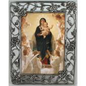 Queen of Angels 3x5 Rose Pewter Frame #23PF-QA