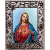 Sacred Heart 5x7 Rose Pewter Frame #57PF-SHJ5