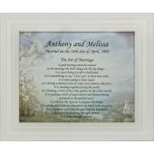 Personalized Art of Marriage Plaque #810F-AM-P