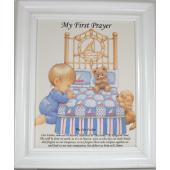 My First Prayer Plaque for Boy #810F-FP_B