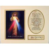 The Divine Mercy 8x10 Ready to frame mat #810M-DM