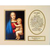 Madonna and Child 8x10 Ready to frame mat #810M-MC4
