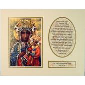 Our Lady of Czestochowa 8x10 Ready to frame mat #810M-OLCz