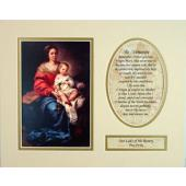 Our Lady of the Rosary 8x10 Ready to frame mat #810M-OLR
