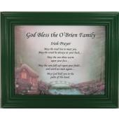Personalized Irish Prayer Plaque #811F-IP-P
