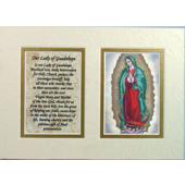 Guadalupe 5x7 Mat with Prayer #57MAT-G