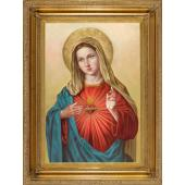 Immaculate Heart of Mary Oil Canvas Painting #2636-IHM10