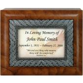 Personalized Sympathy 4x5 Keepsake Box #SJBX-SYM-P