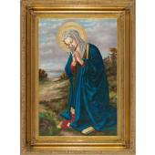 Madonna in Prayer Oil Canvas Painting #2636-MP(b)