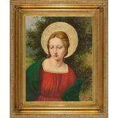 Madonna Oil Canvas Painting #2636-MG