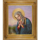 Madonna in Prayer Oil Canvas Painting #2636-MP2