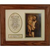 St. Joseph Frame with Prayer 8x10 #MFS-O-STJOE