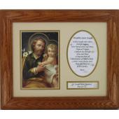 St. Joseph Frame with Prayer 8x10 #MFS-O-STJOE2