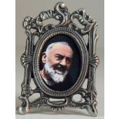 St. Pio Mini  Pewter Frame #MOPF-PP