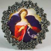 Our Lady Undoer of Knots Mini Pewter Frame #MPF-OLK