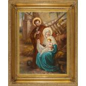 Nativity Oil Canvas Painting #3646-NAT