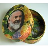 Padre Pio Floral Paper Box #OPBX-PP