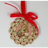 Our Lady of Rosary Ornament 1404-OLRB