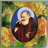 Padre Pio Floral Paper Box #PF-PP3