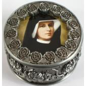 St. Faustina Rosary Box #PRBX-BF