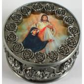 St. Faustina with The Divine Mercy Rosary Box #PRBX-BF2