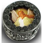 Guardian Angel Pewter Rosary Box #PRBX-GA