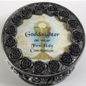 Goddaughter First Communion Rosary Box PRBX-HC5-GD