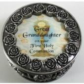 Great Granddaughter First Communion Rosary Box PRBX-HC5-GRGD