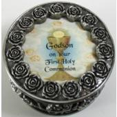 Godson First Communion Rosary Box PRBX-HC5-GS