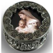 L'Innocence Pewter Rosary box #PRBX-IN