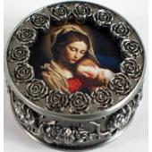 Madonna and Child  Rosary Box #PRBX-MCb