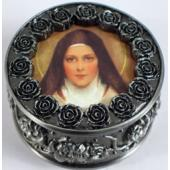 St. Therese Rosary Box #PRBX-STT