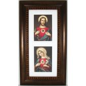 Sacred and Immaculate Heart Frame #4624-HB7