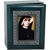 St Faustina 4x5 Keepsake Box #SJBX-BF