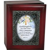 Goddaughter First Communion 4x5 Keepsake Box #SJBX-COM2-GD