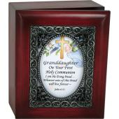 Granddaughter First Communion 4x5 Keepsake Box #SJBX-COM2-GRD